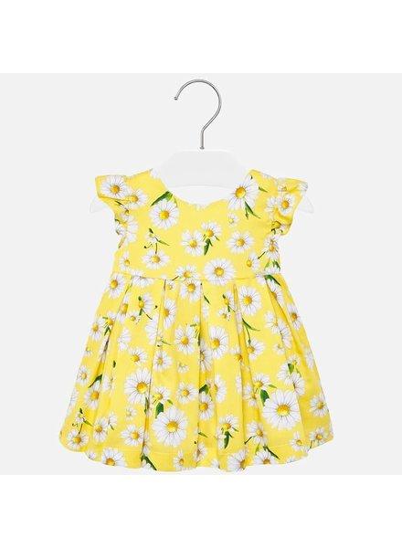Mayoral Poplin Yellow Floral Dress