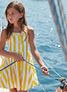 Mayoral Yellow Stripe Poplin Dress