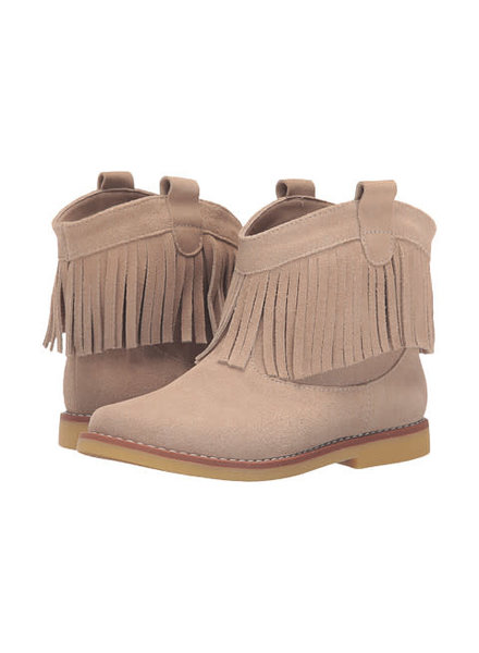 Elephantito Fringe Bootie ~ Sand Suede