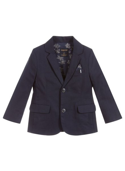 Mayoral Navy Tailored Linen Blazer
