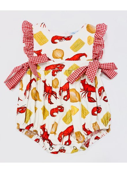 Ellie Crawfish Boil Girl Bubble w/ Ruffles/Bows
