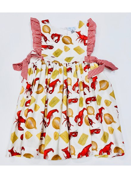 Bella Crawfish Boil Dress w/ Ruffles/Bows