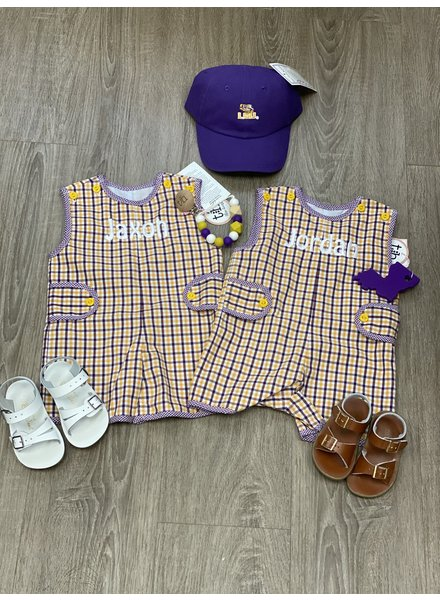 Pete LSU Shortall Plaid
