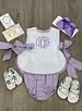 Laly Bib Top w/ Bloomer Lavender Gingham