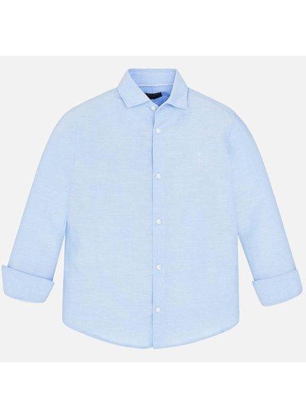 Mayoral Light Blue Basic Linen L/S Shirt