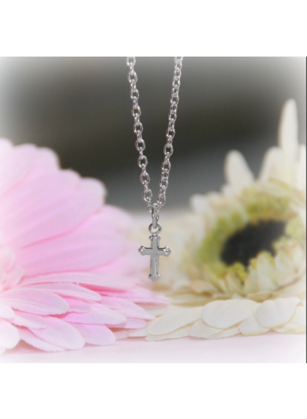Collectables America Cross Necklace ~ Rhodium Silver