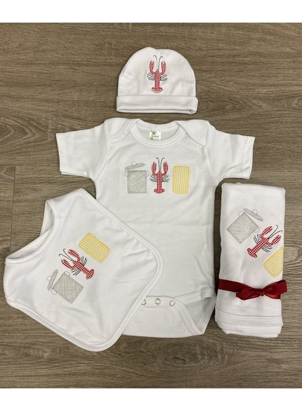 Crawfish Trio Bib