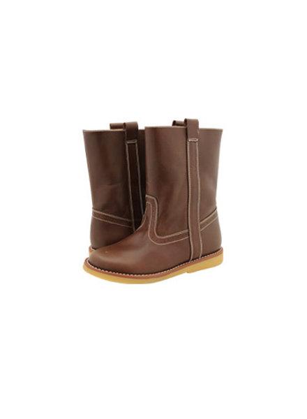 Elephantito Western Boot ~ Cognac