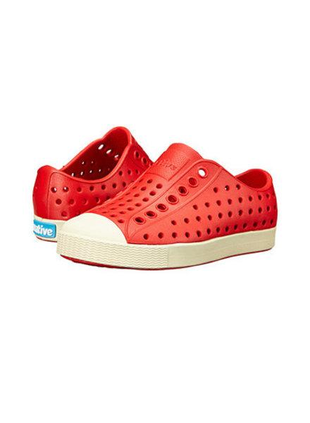 Native Shoes Jefferson w/ Bone White Sole ~ Torch Red/Bone White