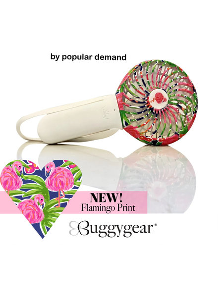 Flamingo 3 Speed USB Rechargeable TURBO Buggy Fan + Light {2 Color Options}