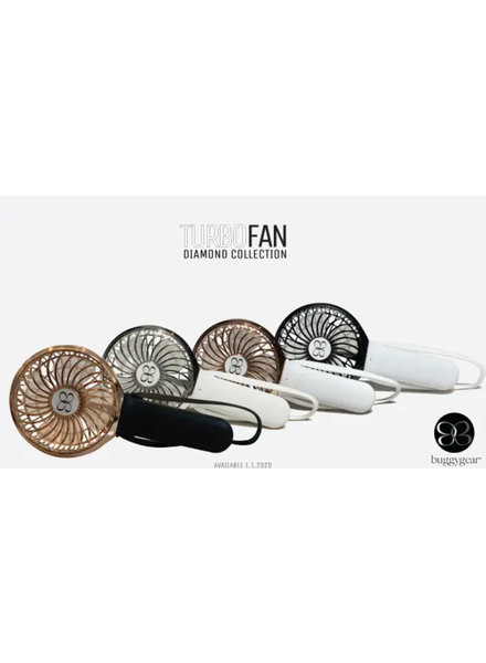 3 Speed USB Rechargeable TURBO Buggy Fan + Light {4 Color Options}