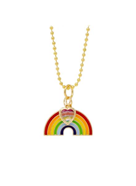Rainbow & Heart Necklace