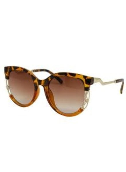 Leopard Sunglasses ~ Gold Plate & Crystal