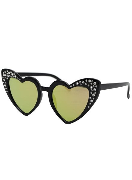 Crystal Heart Sunglasses {2 Colors}