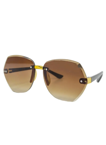 Frameless Polygon Sunglasses {2 Colors}