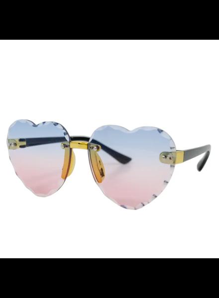Frameless Heart Sunglasses {Blue/Pink}