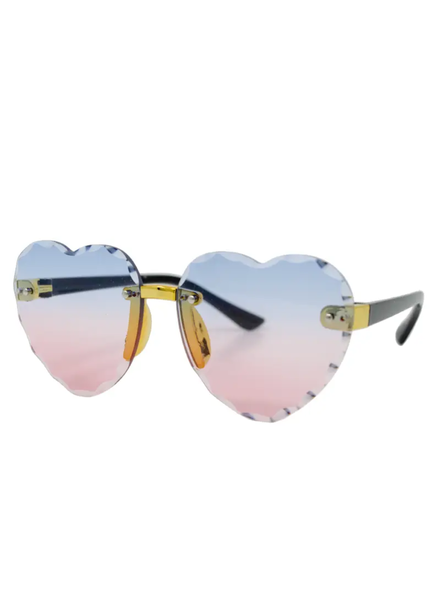 Frameless Heart Sunglasses ~ Pink