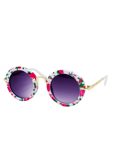 Flower Round Retro Sunglasses