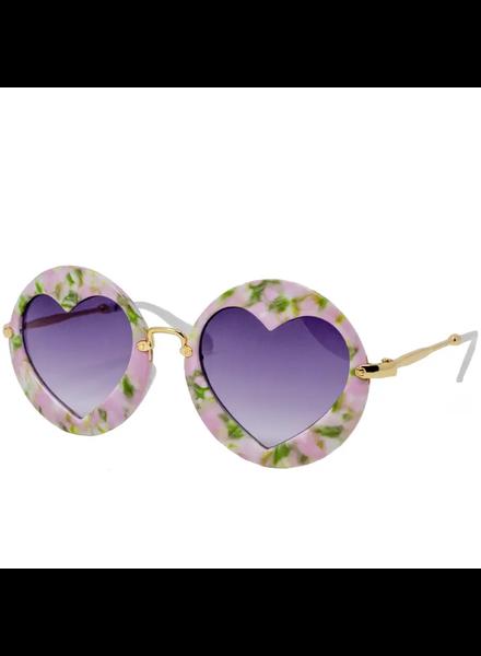 Round w/ Hearts Sunglasses