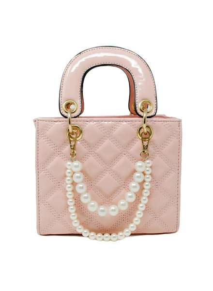 Jumbo Quilted Leather Bag ~ Pink