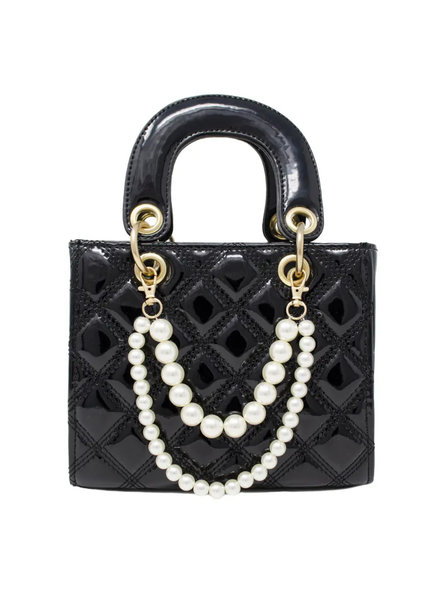 Jumbo Quilted Leather Bag ~ Black