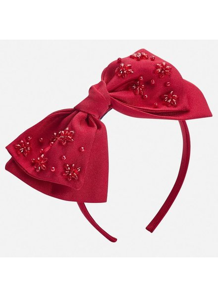 Mayoral Ribbon Headband Red F19