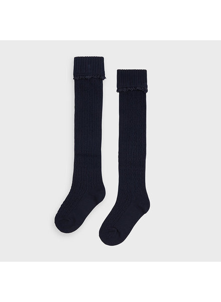 Mayoral Footed Knee Socks ~ Navy