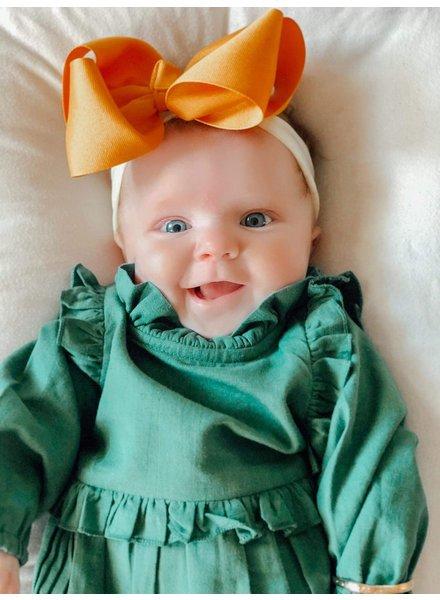 Yo Baby Longsleeve Romper w/ Ruffle Collar {2 Colors}
