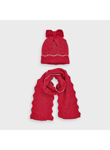 Mayoral Lurex Set w/ Scarf ~ Red