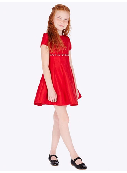 Mayoral Dress w/ Rhinestones {Red}