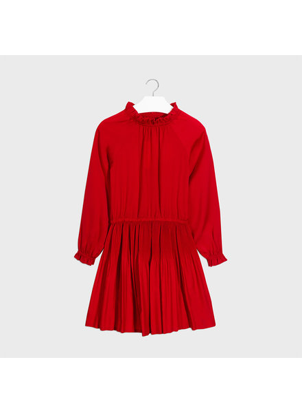 Mayoral Satin Dress ~ Red