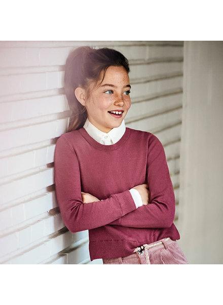 Mayoral Mixed Chiffon Sweater ~ Mauve