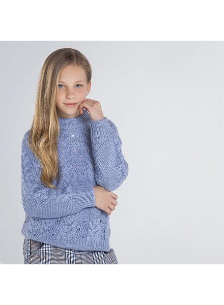Mayoral Knit Sweater ~ Light Blue