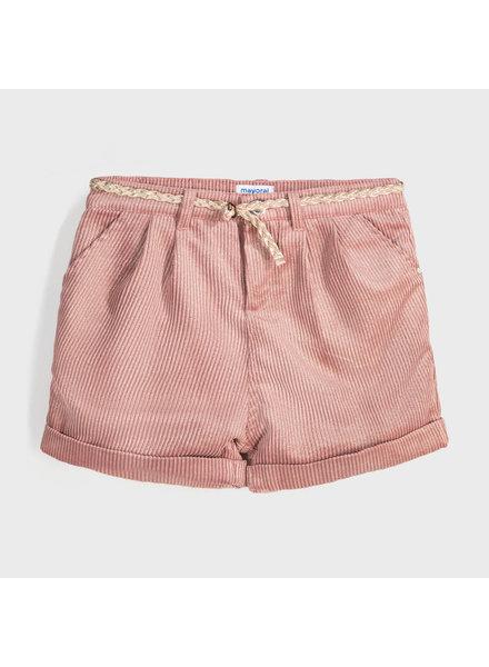 Mayoral Corduroy Bermuda Shorts ~ Shiny Pink