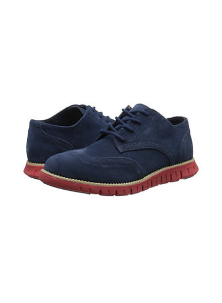 Cole Haan Zero Grand Oxford Perf ~ Navy/Red