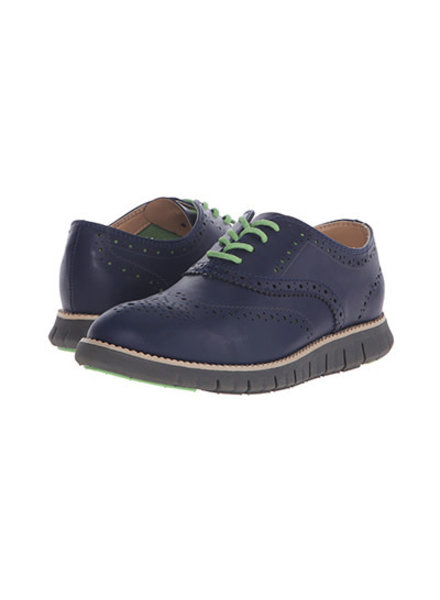 Cole Haan Zero Grand Oxford Perf ~ Marine Blue/Charcoal