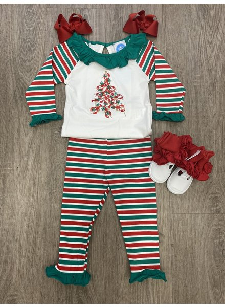 Krewe Crawfish Christmas PJs ~ Girls Red