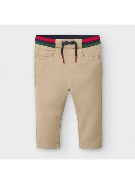 Mayoral 5 Pocket Pattern Pants ~ Khaki