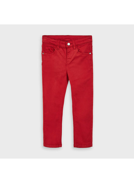Mayoral 5 Pocket Slim Fit Basic Pant ~ Cherry