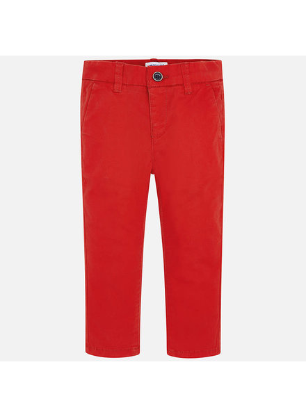 Mayoral 512 Red Twill Basic Pants