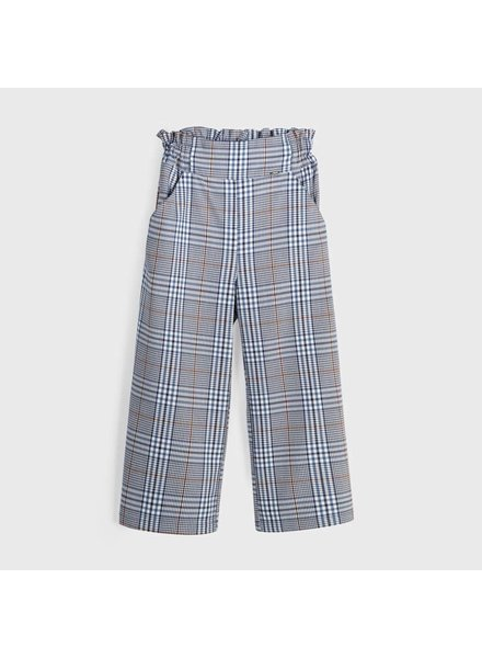 Mayoral Plaid Pants ~ Nvy/Tan/Wht/Lt. Blue
