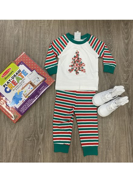 Krewe Crawfish Christmas PJs ~ Boys Red