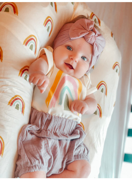 Emerson and Friends Earthtone Rainbow Onesie