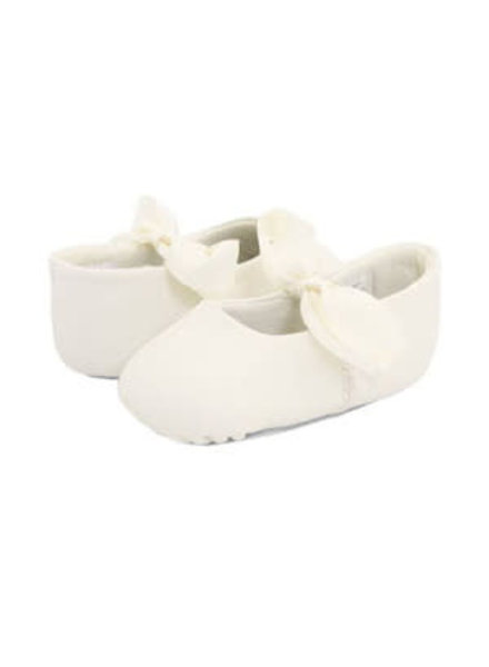 Sabrina Leather Ballet Flats - Crib {Ivory}