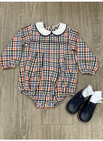 Navy Plaid Juniper Boy Bubble