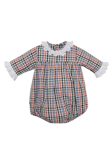 Navy Plaid Juniper Girl Bubble