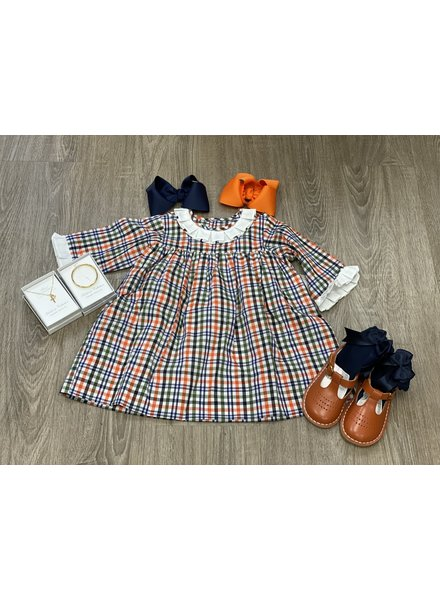 Navy Plaid Juniper Dress {Big Girls}