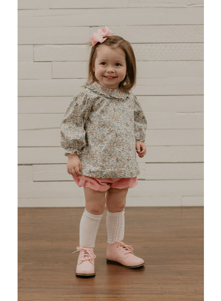 Baby Sen by Remember Nguyen Aspen Bloomer Set - Pink Flowers
