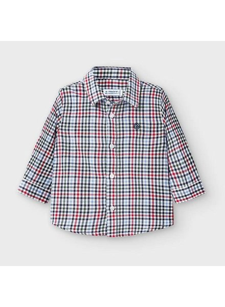 Mayoral L/S Checkered Shirt {Green/Blue/Red}