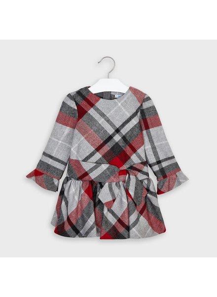 Mayoral Plaid Dress {Red/Slate/Gray}